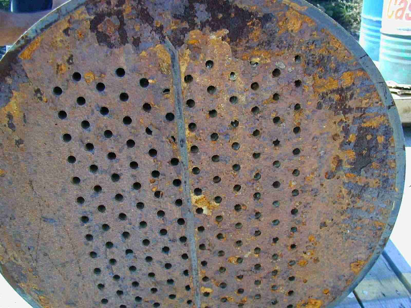 Corroded Condenser Tube Plate